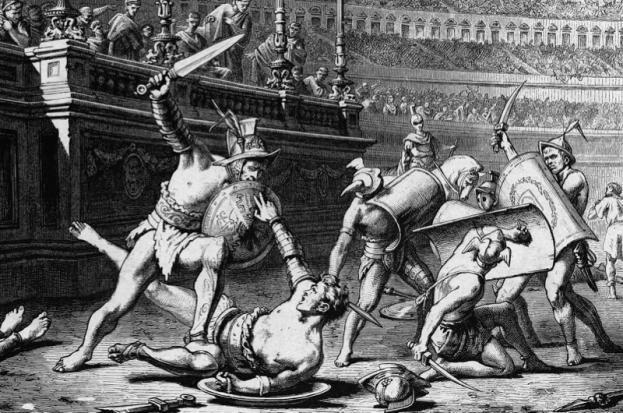 gladiátori, gladiátors, vegetarians, vegetariáni, www.pravymuz.sk, boj, výzva