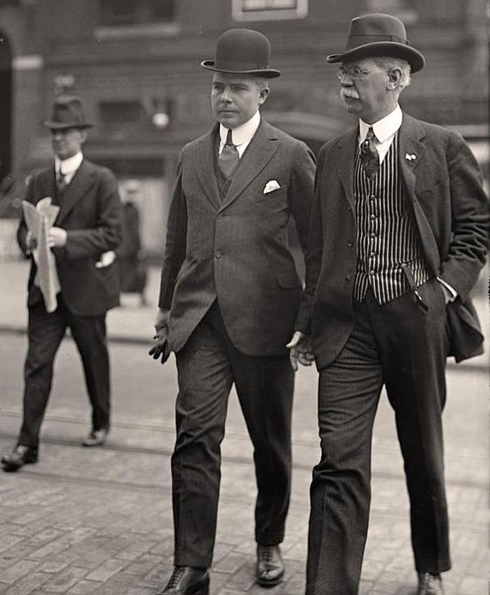 1900-1919-mens-wardrobe, história Pánskej módy, 100 rokov pánskej módy, pravý muž, oblek, sako, vintage, 1900 roky