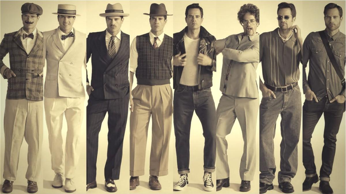 história Pánskej módy, 100 rokov pánskej módy, pravý muž, oblek, sako, vintage