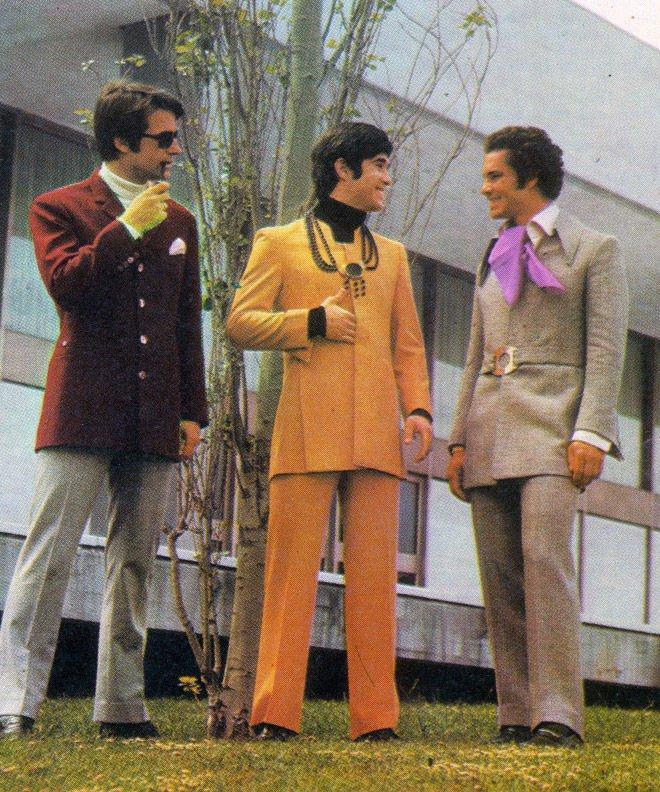 70s_moda_fashion_Cultura, história Pánskej módy, 100 rokov pánskej módy, pravý muž, oblek, sako, vintage, 70 roky