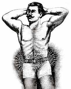 Produkty pre mužov, najhoršie produkty, produkty na prostatu, produkty na vypadánie vlasov, tupé, vlasy v spreji, Crosely Xervac, radioaktívny suspenzor, Heidelbergov elektrický pás