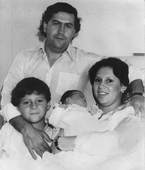 Pablo Escobar s rodinou