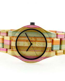 Drevené Hodinky Coloré - Svetlé Trio Bambus