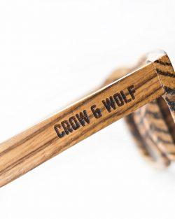 Drevené Okuliare Crow & Wolf | Abigarrado – Zebrové | PravýMuž.sk