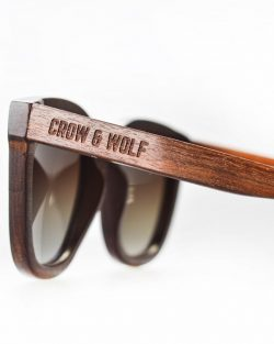 Drevené Okuliare Crow & Wolf | Brillante – Červený Santal | PravýMuž.sk