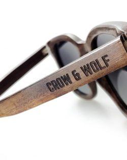 Drevené Okuliare Crow & Wolf | Brillante – Tmavý Santal | PravýMuž.sk