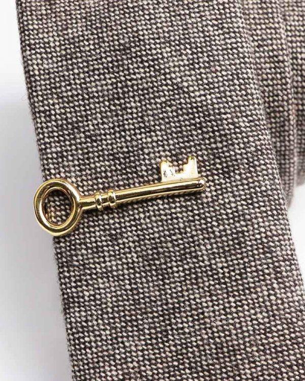 Kravatová Spona – Kľúčik Zlatá Farba