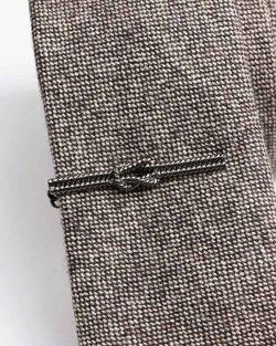 Kravatová Spona – Námornícky Uzol Čierna Farba