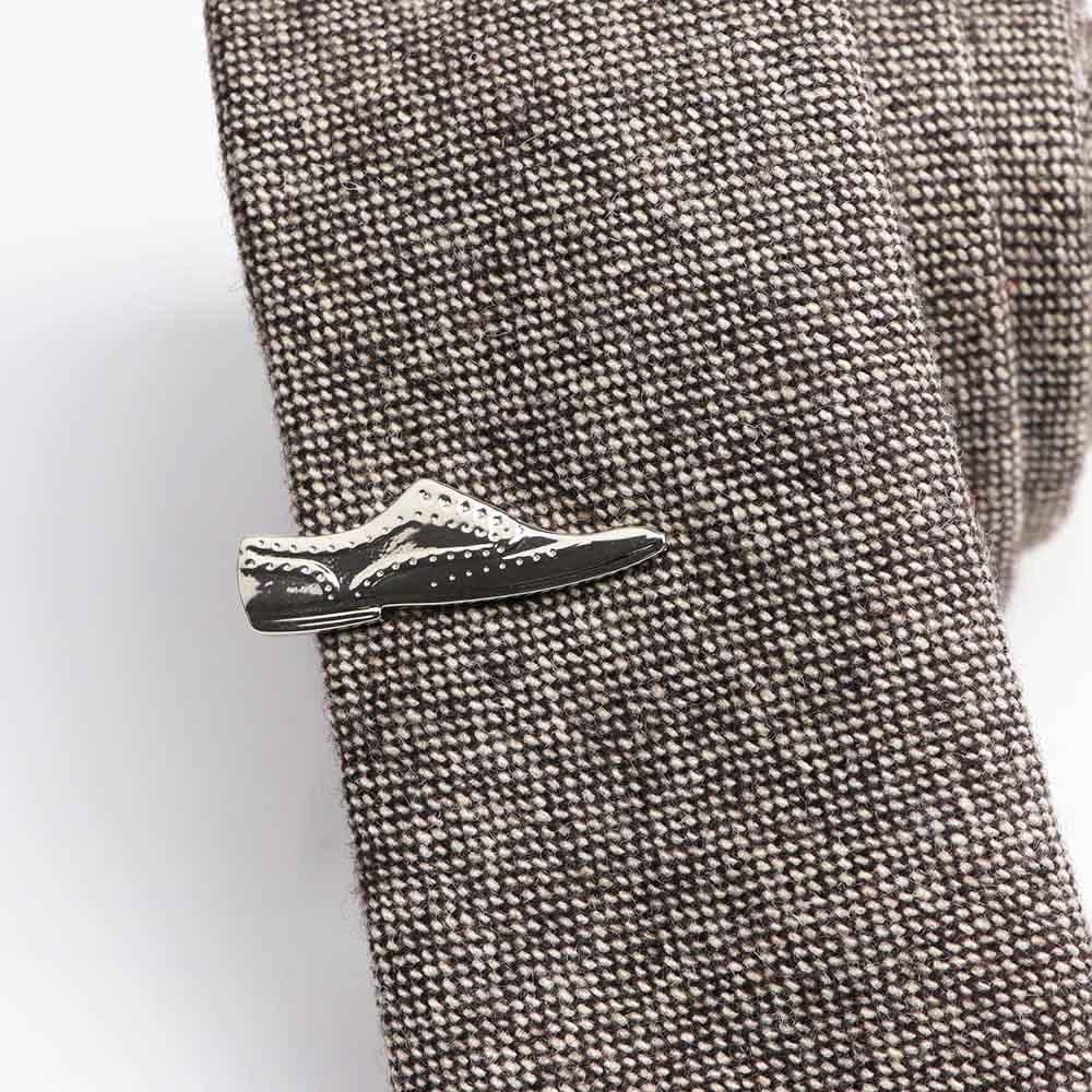 Kravatová Spona – Topánka Strieborná Farba