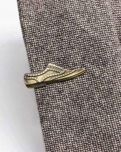Kravatová Spona – Topánka Zlatá Farba