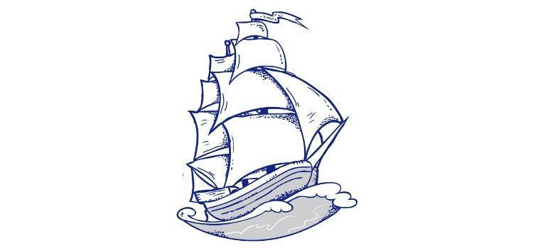 Námornícke Tetovanie plachetnica