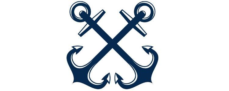 Námornícke Tetovanie, zkrizene-kotvy_namornícke_tetovanie
