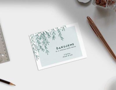 Darčeková Kartička s Venovaním - Vŕba