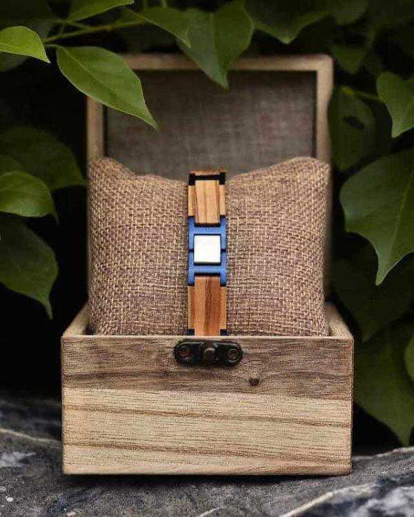 Drevený Náramok Azul - Olivové Drevo, darček pre muža